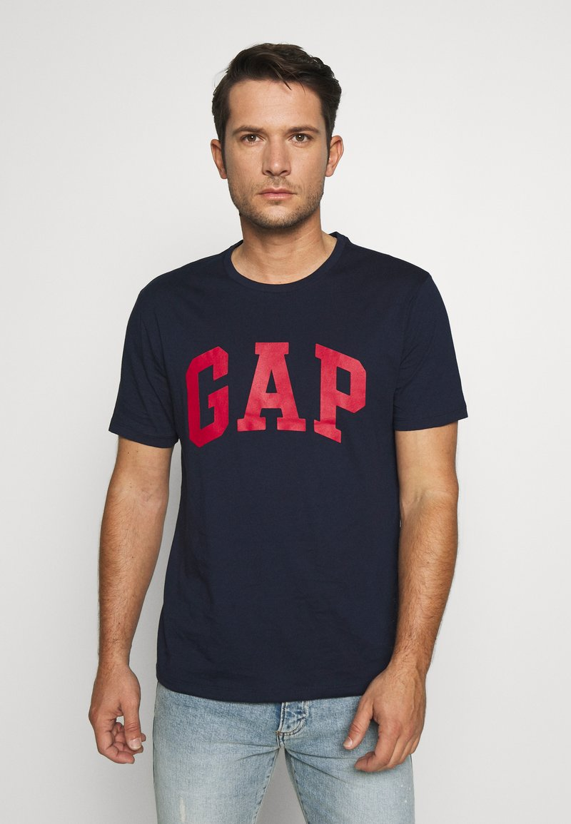 GAP - BASIC LOGO - Print T-shirt - tapestry navy