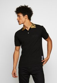 Versace Jeans Couture - BAROQUE COLLAR POLO - Poloshirt - black - 0