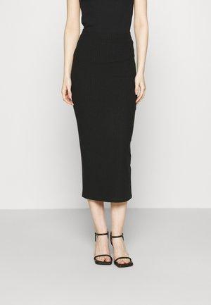 SKIRT - Pouzdrová sukně - nero