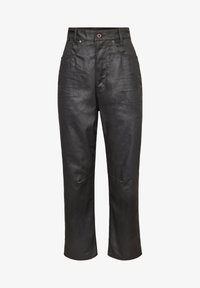 C-STAQ  BOYFRIEND CROP WMN - Relaxed fit jeans - waxed black cobler