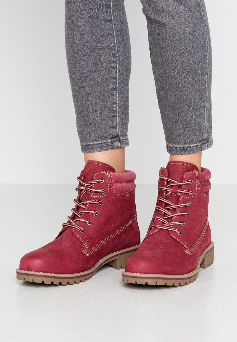Marco Tozzi - Lace-up ankle boots - chianti