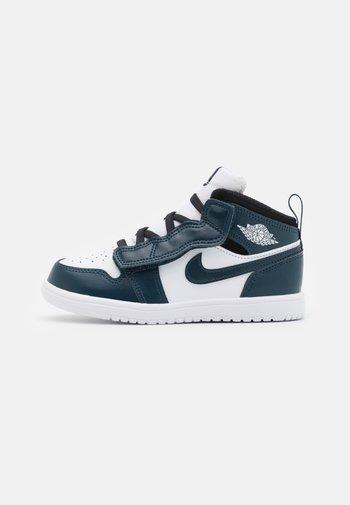 1 MID UNISEX - Basketball shoes - armory navy/white/black