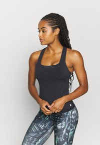 Sweaty Betty - SUPER SCULPT YOGA  - Sports shirt - black marl - 0