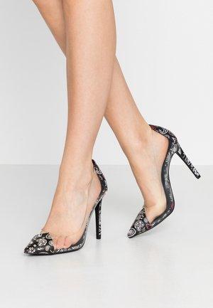 ALEXXIA - Zapatos altos - black/multicolor
