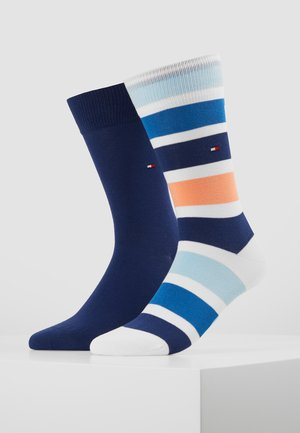 COLORBLOCK STRIPE 2 PACK - Socks - light blue