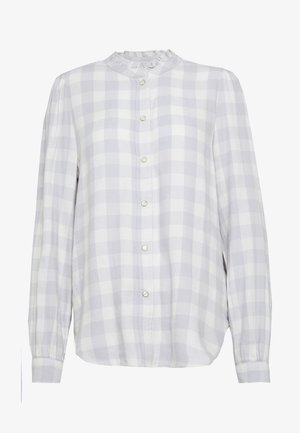 Blouse - grey plaid