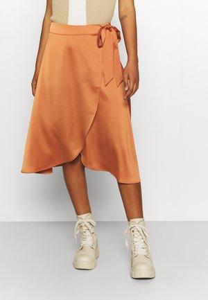 OVERLAP SKIRT - Wrap skirt - orange