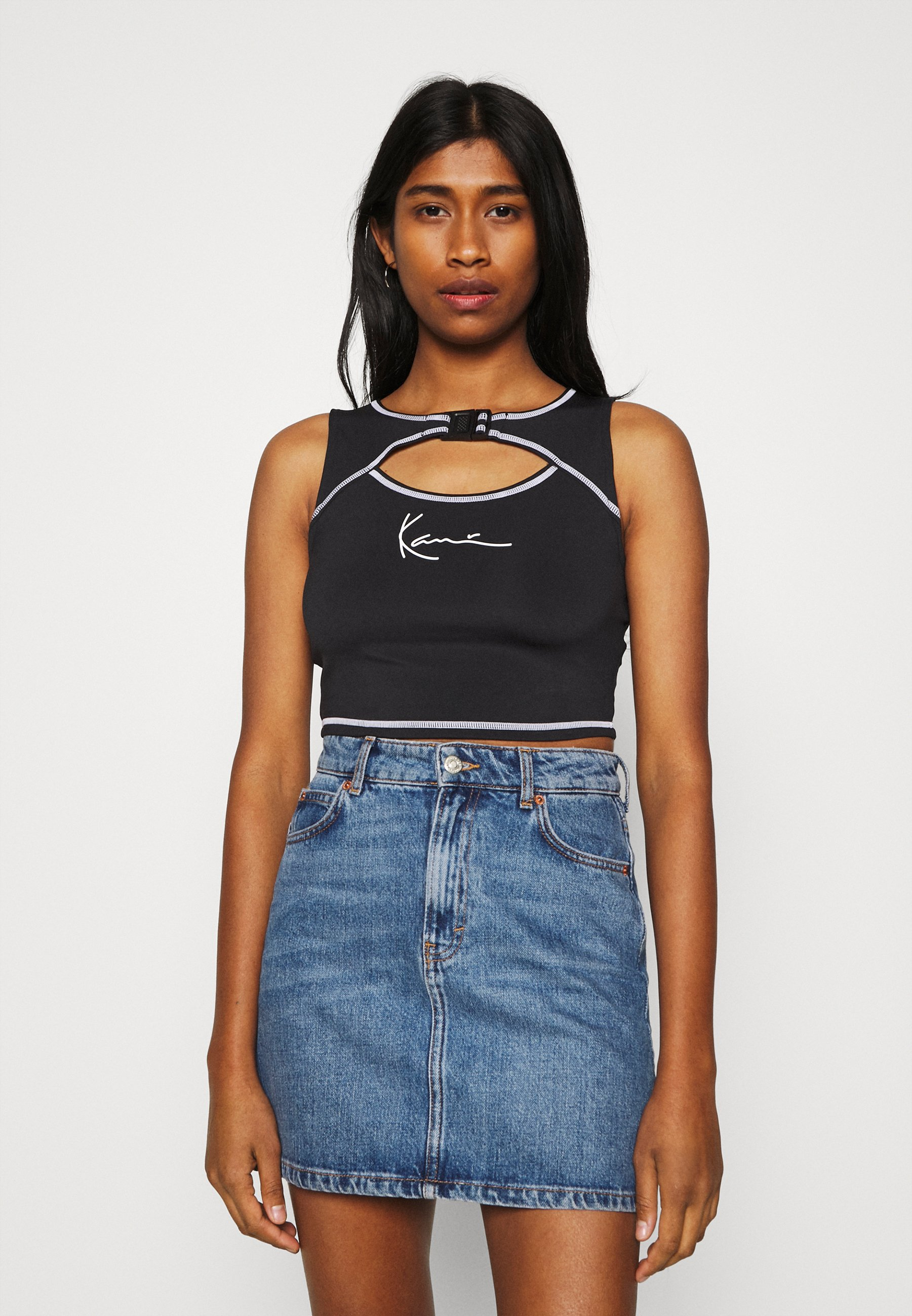 Women SMALL SIGNATURE CUTOUT CROPPED - Top