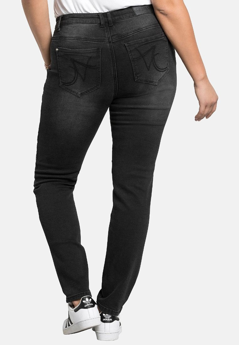 Sheego Jeans Skinny Fit - black denim kF8H8N