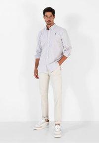 Scalpers - Shirt - burgundy stripes - 1