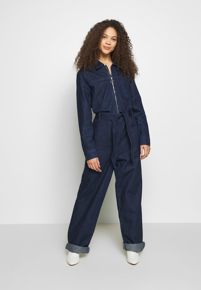 SLFDANA DARK - Tuta jumpsuit - dark blue denim