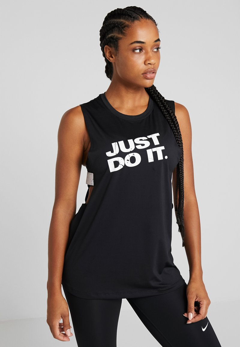 Nike Performance - MARBLE LOOSE TANK - Funktionstrøjer - black/white