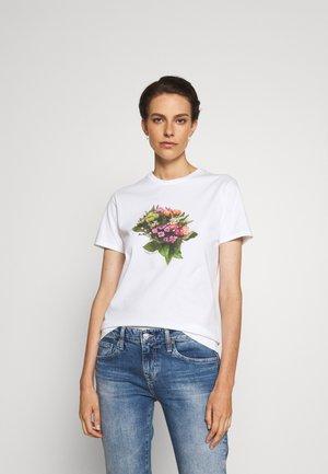 Potiskana majica - white