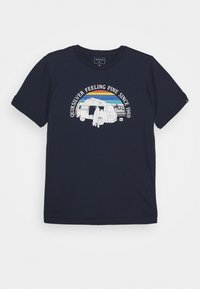 Quiksilver - COME SAIL AWAY YOUTH - Print T-shirt - navy blazer - 0