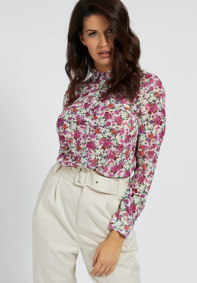 Guess - CLOUIS  - Button-down blouse - mehrfarbe rose