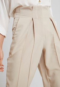 YAS Tall - YASWELLO WIDE PANT VIP - Trousers - oxford tan - 3
