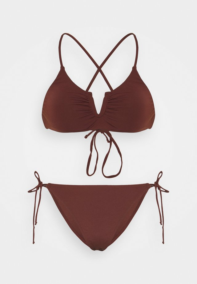 PCGINETTE SET - Bikini - rum raisin