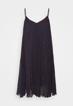 ICON TARTAN DRESS - Kjole - black/red