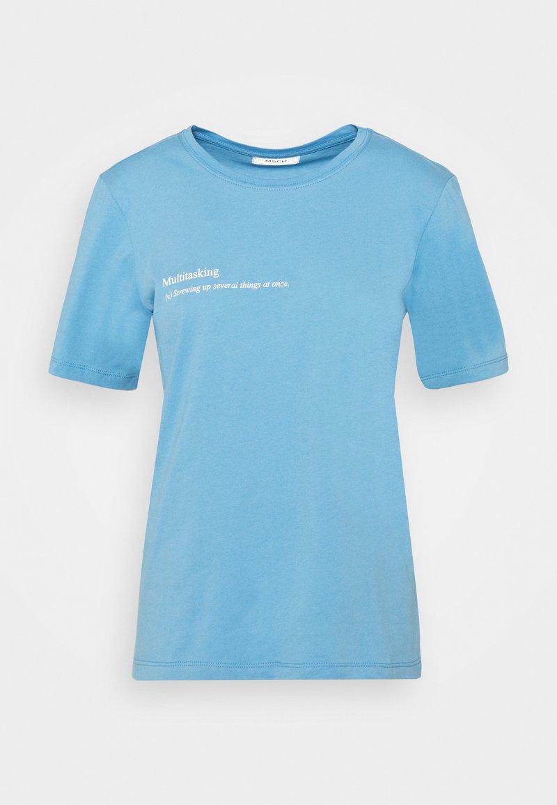 Moss Copenhagen - ALVA TEE - Print T-shirt - blue
