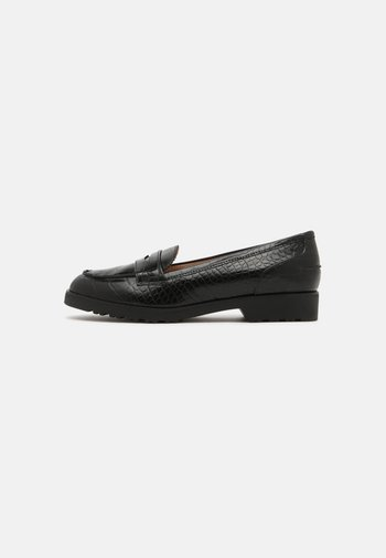 WIDE LINCOLN CHUNKY CROC LOAFER - Mocassins - black