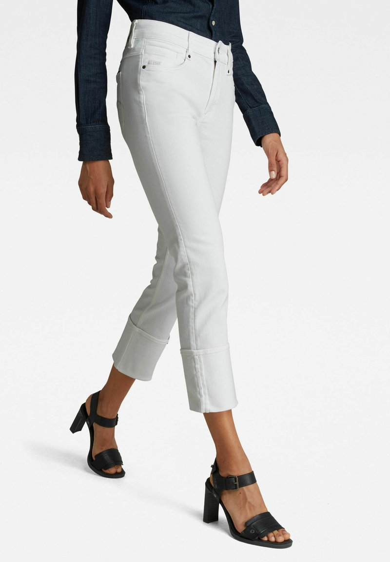 G-Star - NOXER  - Straight leg jeans - white