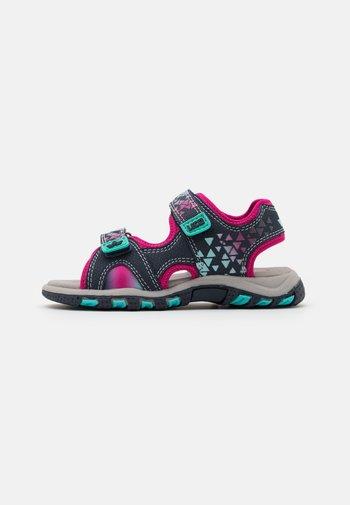 NIMBLE - Sandals - marine/pink/türkis