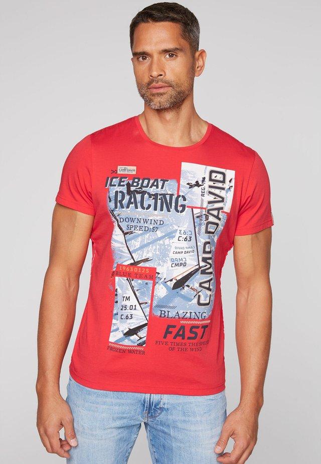 Print T-shirt - speed red