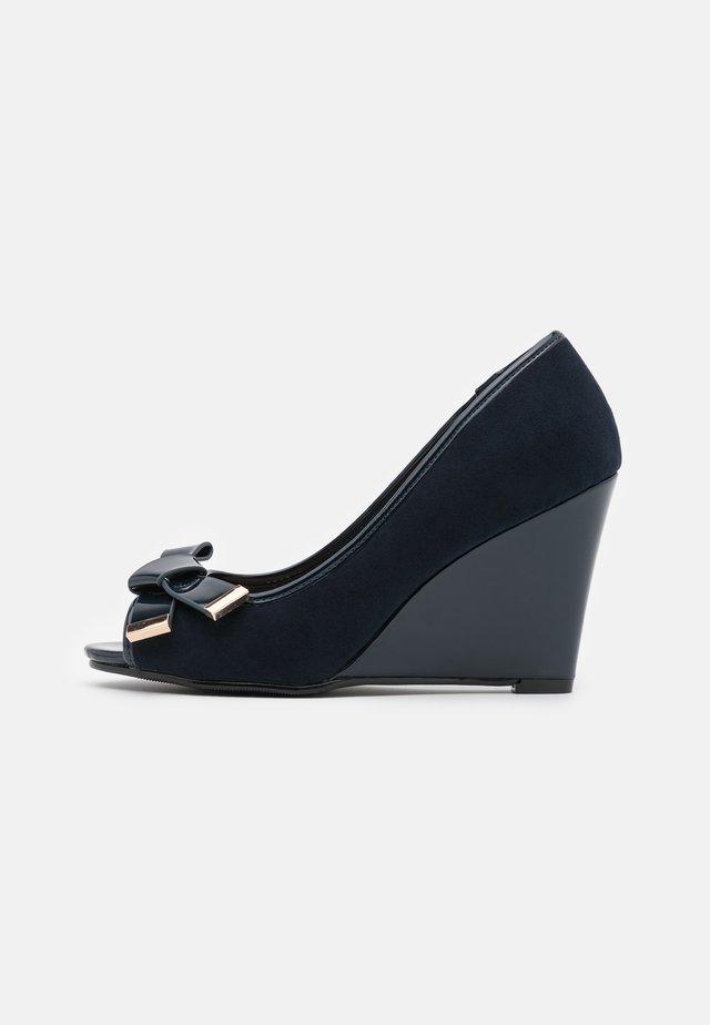 CASSIDY - Peeptoe heels - navy