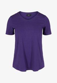 Zizzi - Basic T-shirt - purple - 3