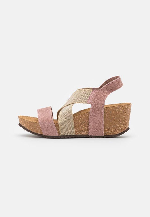 STACIA - Korkeakorkoiset sandaalit - rose