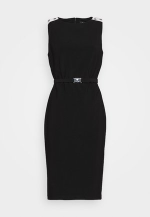 BONDED TONE DRESS - Shift dress - black/white