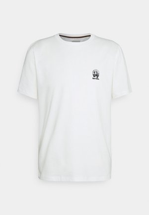 GENTS HOMER BADGE - T-shirt z nadrukiem - white