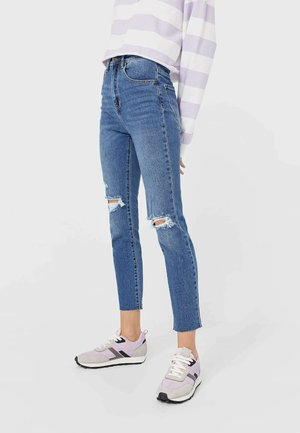 Jeansy Slim Fit - mottled light blue