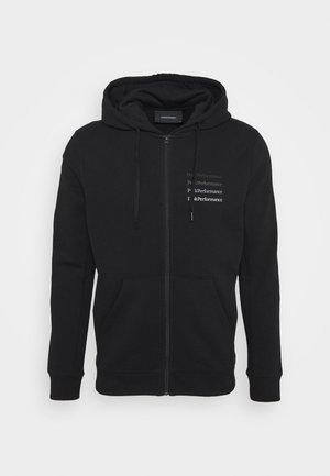 GROUND ZIP HOOD - Sweatjakke /Træningstrøjer - black