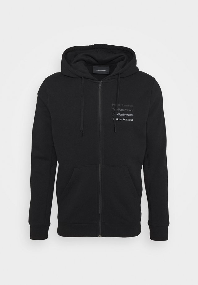 GROUND ZIP HOOD - Hettejakke - black