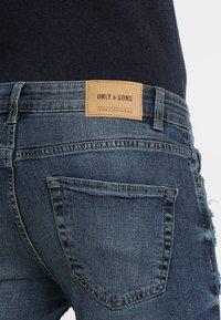 Only & Sons - LOOM BREAKS - Slim fit jeans - dark blue denim - 5