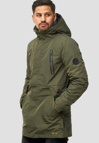 INDICODE JEANS - Winter coat - dark green - 3