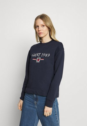 CREST CNECK  - Sweatshirt - evening blue