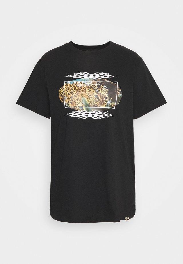 DARIA - T-shirt imprimé - black