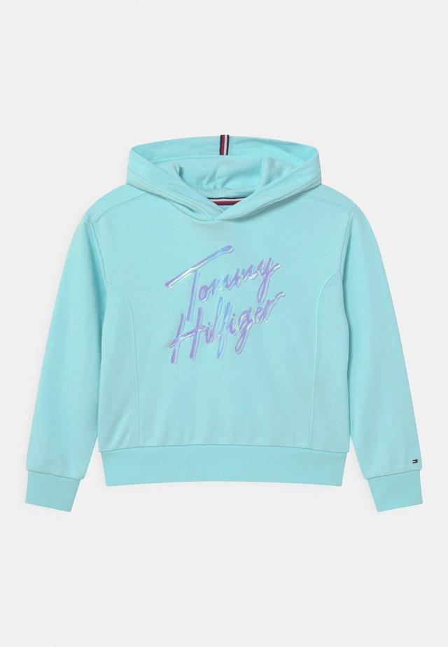 SCRIPT PRINT HOODIE - Sweatshirt - frost blue