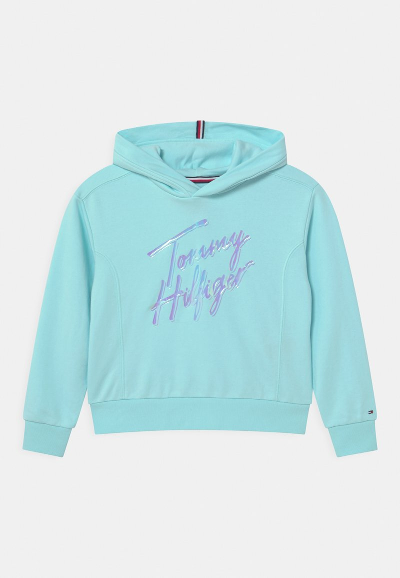 Tommy Hilfiger - SCRIPT PRINT HOODIE - Sweatshirt - frost blue