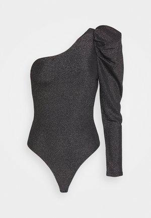 KASIA - Bluzka z długim rękawem - black/silver