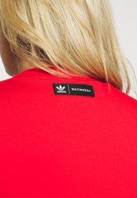 adidas Originals - TEE DRESS - Jersey dress - vivid red - 4