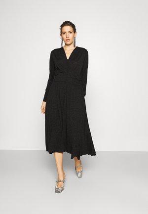 COSY LONG DRESS - Denní šaty - black grey