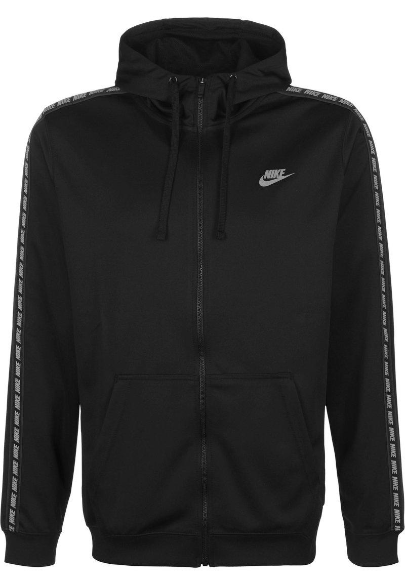 Nike Sportswear - NSW REPEAT - Zip-up hoodie - black/refelctive sil