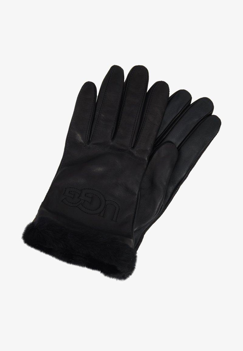 UGG - CLASSIC LOGO GLOVE  - Rukavice - black