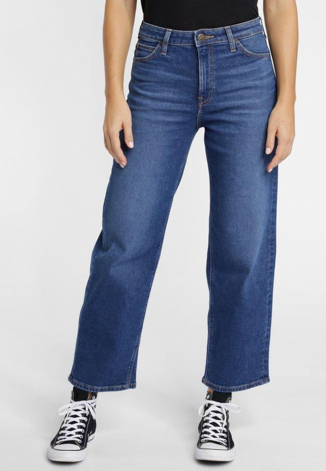 Jeans a sigaretta - mottled royal blue