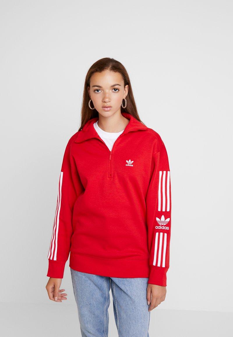 adidas Originals - ADICOLOR HALF-ZIP PULLOVER - Sweatshirt - scarlet