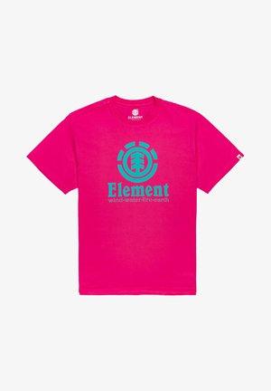 VERTICAL - Camiseta estampada - fushia red