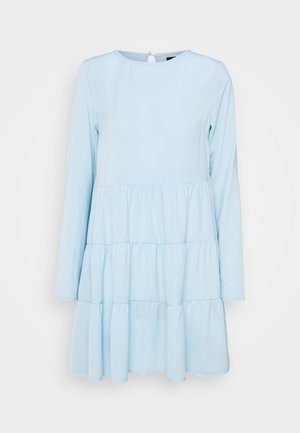 TIERED SMOCK DRESS - Day dress - powder blue